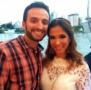 Guilherme Machado e sua esposa Hinglyd
