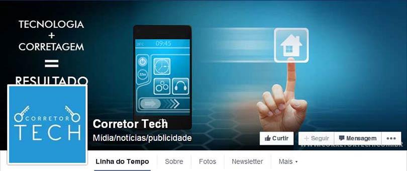Página do Facebook Corretor Tech