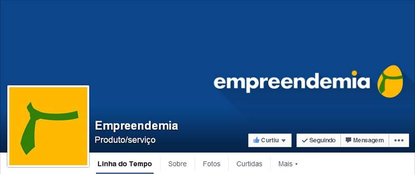 Página do Facebook Empreendemia