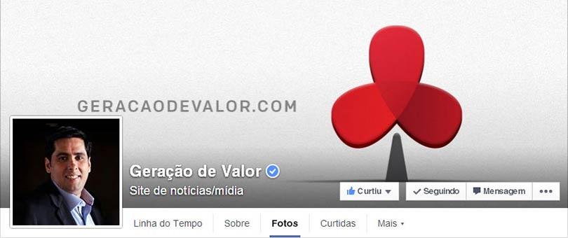 Página do Facebok Geração de Valor