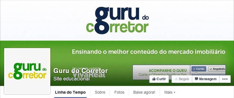 Página do Facebook O Guru do Corretor