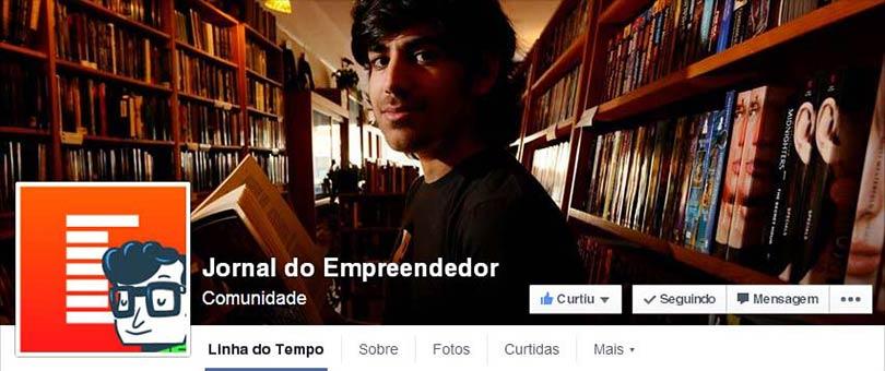 Página do Facebook Jornal do Empreendedor