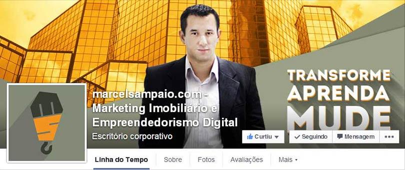 Página do Facebook Marcel Sampaio