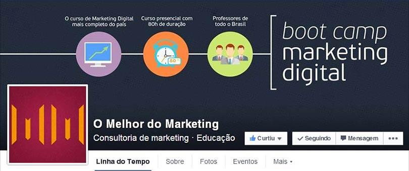 Página do Facebook O Melhor do Marketing