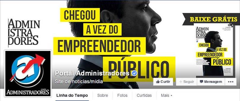 Página do Facebook Portal Administradores