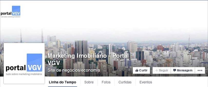 Página do Facebook Portal VGV