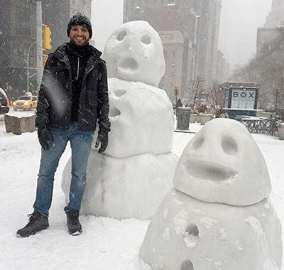 Bonecos de neve QR em Nova York